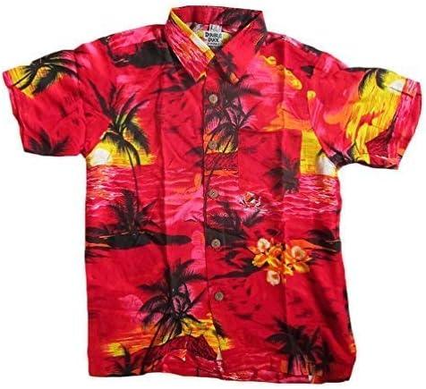 DOUBLE DUCK Niño Chillón Camisa Hawaiana, para 14 años 40, pecho ...