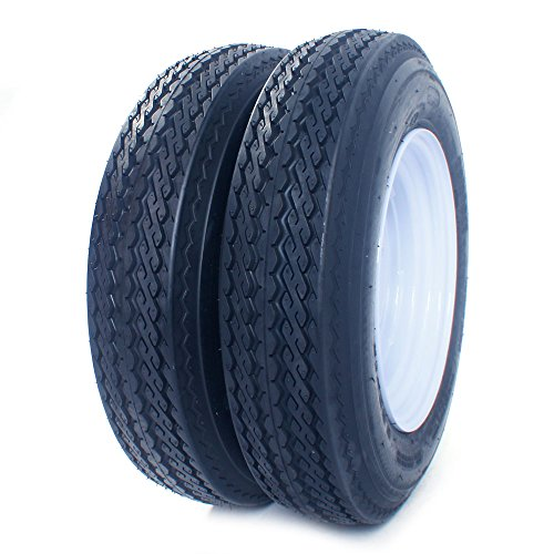 (Motorhot 2 pcs 5.30 x 12 5.30-12 Sport Trailer Tires & Rims 12'' LRB 4PR 5 Lug on 4.5