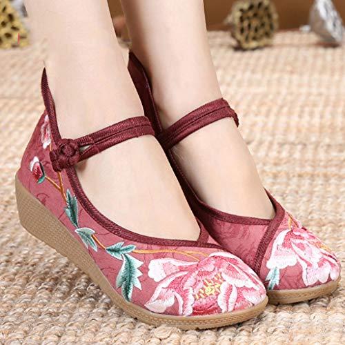 de Bordados la Planos Elegante cu Tend Nacional XHX de de la Zapatos Mujeres a de Zapatos Zapatos Vendimia Retro Las Viento Zapatos EqC5txgBFw