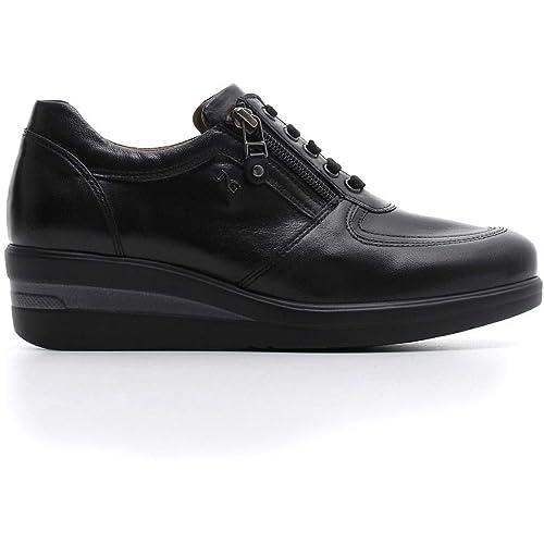 Sneakers Scarpe A806390d Autunno Nero Pelle Giardini Donna In 6x1qwwEAI