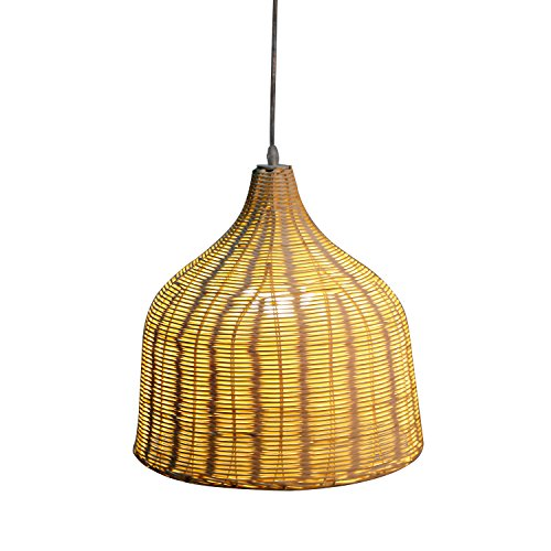 Arturesthome Handmade Nordic Lamp Woven Basket Handmade Ceiling Lighting