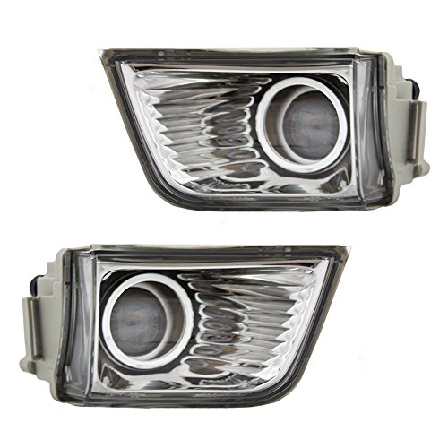 Driver and Passenger Fog Lights Bumper Mounted Lamps Replacement for Toyota SUV 81221-35040 81211-35060
