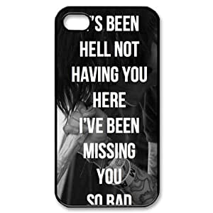Sleeping with Sirens SWS Custom Printed Design Durable Case Cover for Iphone 4 4S