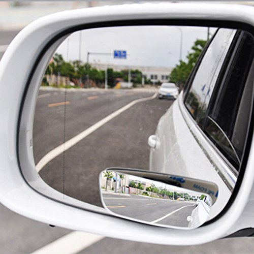 SCASTOE 1Pair Car 360°Adjustable Frameless Wide Angle Convex Blind Spot Rearview Mirror