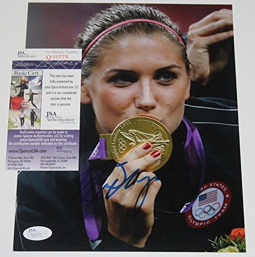 Alex Morgan Autographed 8X10 Photo Women'S Soccer Usa Gold Sexy Star JSA