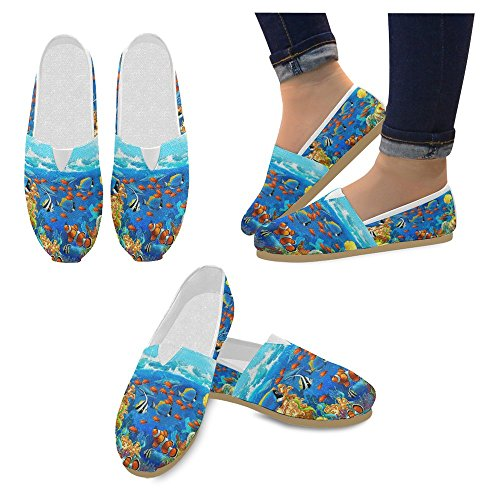 InterestPrint Womens Loafers Classic Casual Canvas Slip On Fashion Shoes Sneakers Flats Multi 13 Kny3ou5Ug