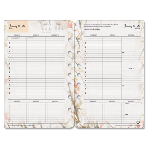 Blooms Dated Weekly (FRANKLIN COVEY Blooms Dated Weekly/Monthly Planner Refill, January-December 5-1/2 X 8-1/2 Inches, 2015 (FDP3544815))