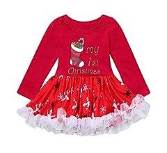 POLP Niño Niñas Navidad Vestidos Mameluco Disfraces para niños Mono Tutu Disfraz niña Disfraz Halloween Bebe Vestido de bebé recién Nacido ...