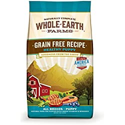 Merrick Whole Earth Farms Grain Free Healthy Puppy Recipe Dry Food, 25 lbs.