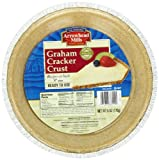Arrowhead Mills Organic Graham Cracker Crust, 9 Inch, 6 oz. (Pack of 6)