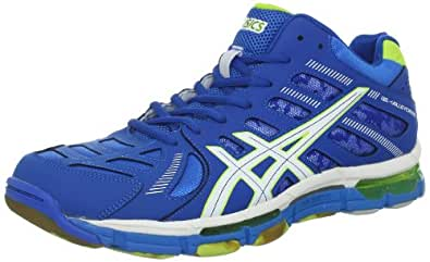 ASICS Men's GEL-Volleycross 4 MT Volley Ball Shoe,Imperial Blue/White/Lime,8 M US