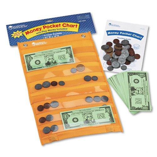 lrnler2254 – 学習リソースお金ポケットチャートwith 115再生、コイン、50再生Bills   B007UH83AU