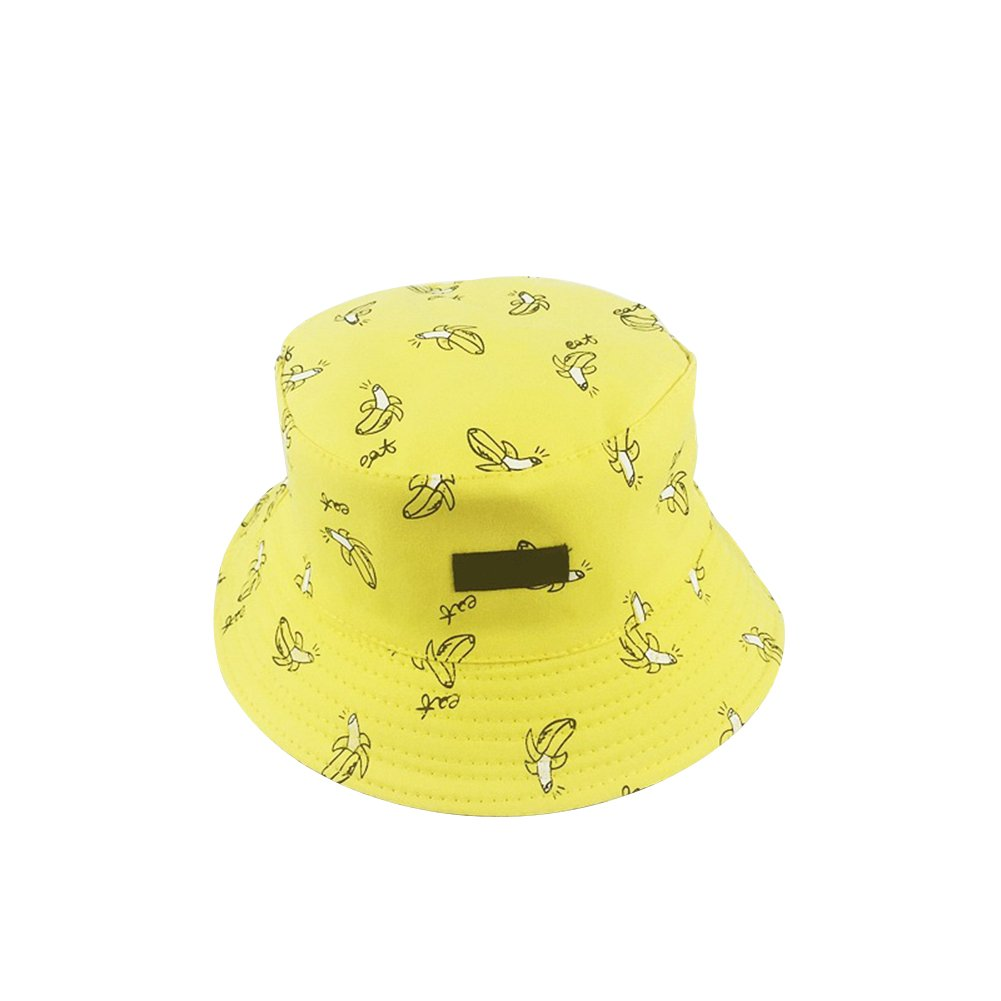 Hosaire 1X Unisex Plain Outdoor Shower Proof Festival Bucket Hat available in a selection of colours (Amarillo)