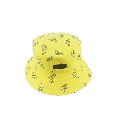 aa63dec53e9 Doitsa Cotton Bucket Hats French Fries Cake Radish Banana Design Reversible  Hat Sun UV Protection Wide Brim Fishing Hat Foldable Sun Hat for Man Woman  56- ...