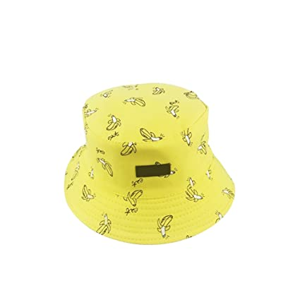 1555f4d695d Doitsa Cotton Bucket Hats French Fries Cake Radish Banana Design Reversible  Hat SUN UV Protection Wide Brim Fishing Hat Foldable Sun Hat for Man Woman  ...