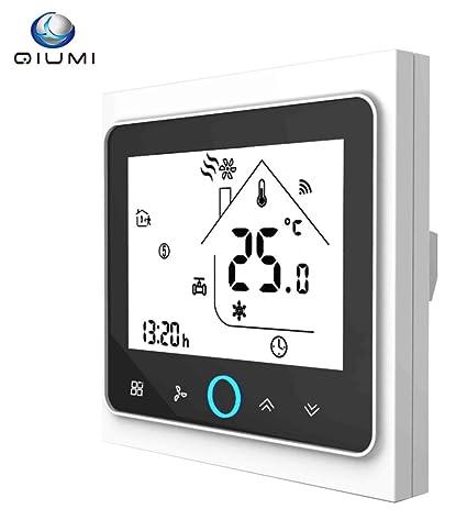 Qiumi Termostato Wifi, controlador de temperatura, aire acondicionado inteligente, controlador de temperatura programable
