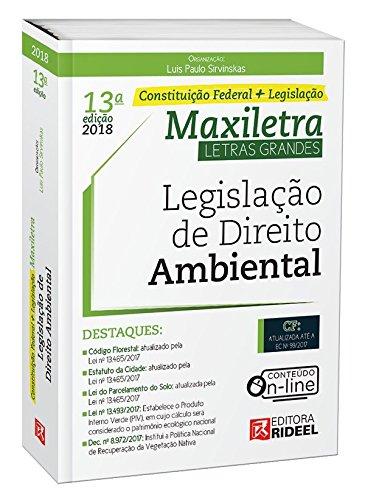 Legislação de Direito Ambiental. Constituição Federal + Legislação