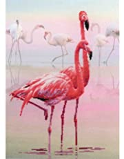"Flamingo Stamped Cross Stitch Kit-11.75""X15.75"" 14 Count"