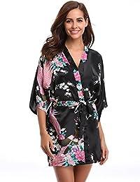 67c1977d0 Aibrou Satén Kimono Pijamas Mujer
