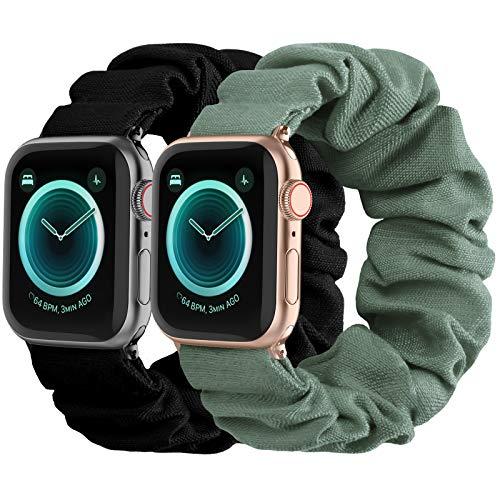 2 Bandas POY scrunchie Apple watch 6/5/4/3/2/1/SE (s/m)