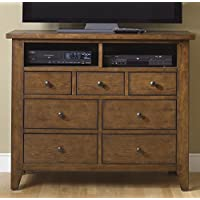 Liberty Furniture Hearthstone Bedroom 7-Drawer Media Chest, Rustic Oak Finish