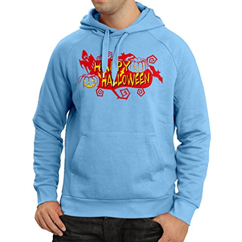 N4638H Hoodie Happy Halloween! (Small Blue Multi Color)