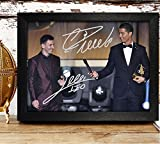 FRAMED Lionel Messi & Cristiano Ronaldo Signed Autographed Photo 4x6 Reprint RP PP - Real Madrid C.F.