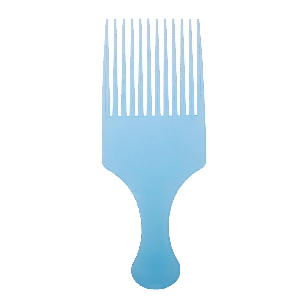 2pcs antistatique Large dents de massage Cheveux bouclés coiffure Peigne Fourche (Bleu AFfeco