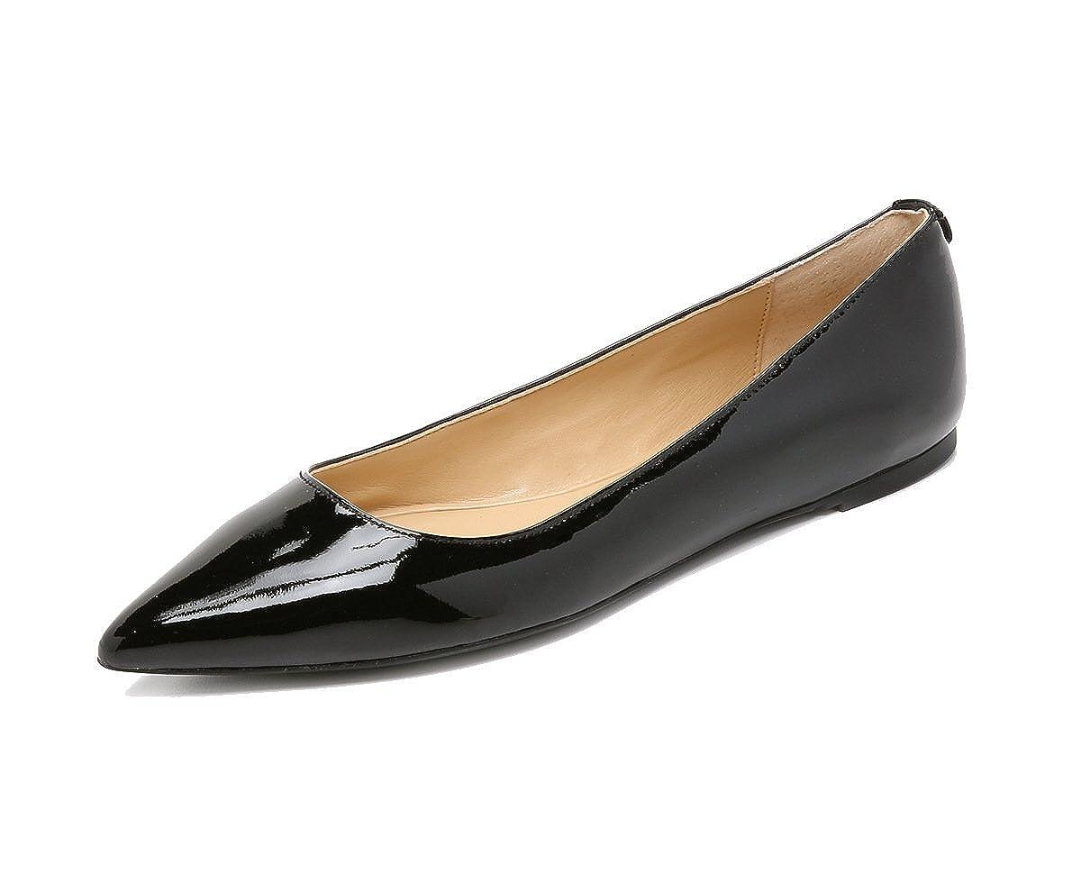 DYF Frauen nackt nackt Frauen Schuhe Farbe Größe scharfe flache Unterseite flach Mund Schwarz -1 38 936925