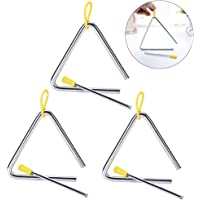Hpamba Triángulos Musicales Infantiles Triángulo de Percusión Percusión Triángulo Musical Triángulo para Niños…