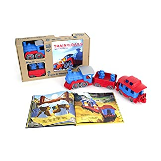 Storybook Gift Set with Train & Storybook by Green Toys