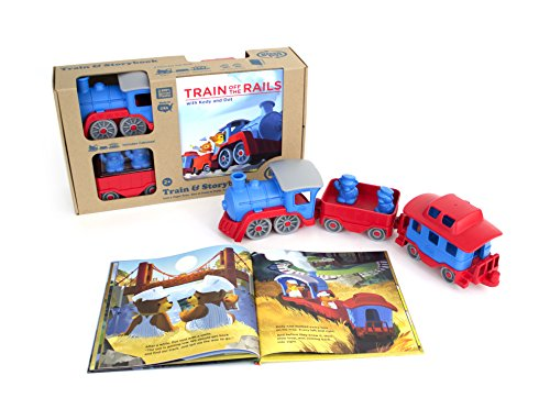 Green Toys Storybook Gift Set Includes Train & Storybook JungleDealsBlog.com