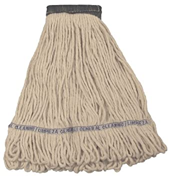 "Wilen A11101, E-Line Looped End Wet Mop, Small, 5"" Mesh Band, Natural (Case of 12)"