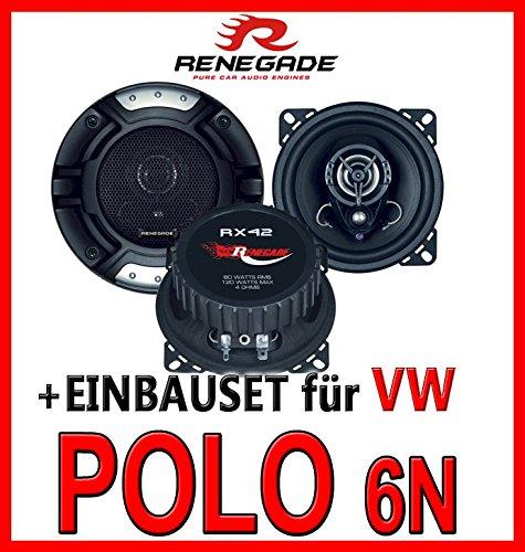 Einbauset f/ür VW Polo 6N JUST SOUND best choice for caraudio Renegade RX-42-10cm Koax-System Lautsprecher