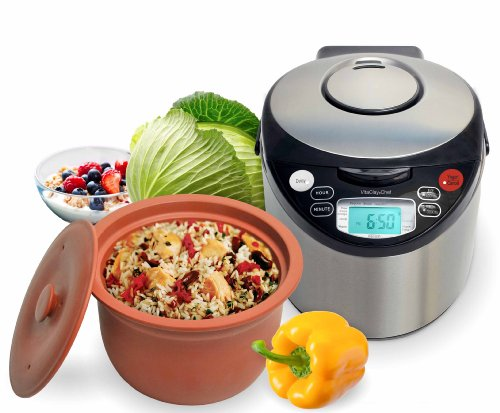 vitaclay-vm7900-8-smart-organic-multi-cooker-rice-cooker-brushed-stainless-steel-and-black