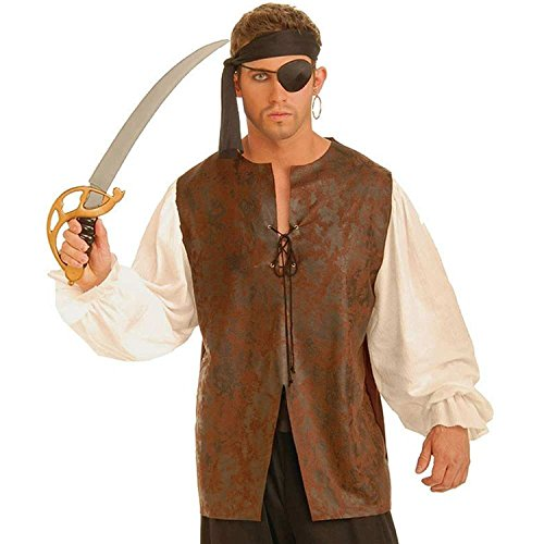 Forum Novelties Men's Buccaneer Plus Shirt Costume Accessory, Multi, X-Large (Easy Halloween Costumes Men)