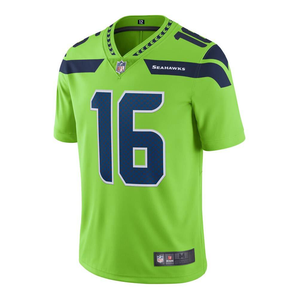Franklin Sports #16 Tyler Lockett Seattle Seahawks Football Jersey for Men Women Youth Green//Navy