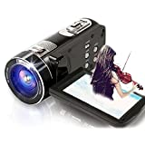 SEREE Camcorder HDV-Z8 FHD True 1080p @ 30fps Max 24.0 MP Full Color Screen For Low light Digital Video Camera 3.0