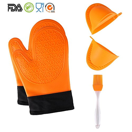 TOPBRY Resistant Silicone Non Slip Grilling