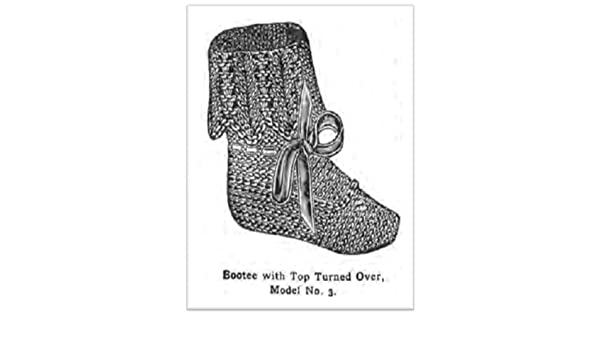 #2114 BOOTIES WITH TOPS TURNED OVER VINTAGE KNITTING PATTERN