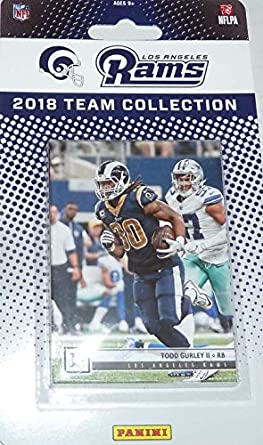 af9881811 Los Angeles Rams 2018 Panini Factory Sealed NFL Football Complete Mint 11  Card Team Set with