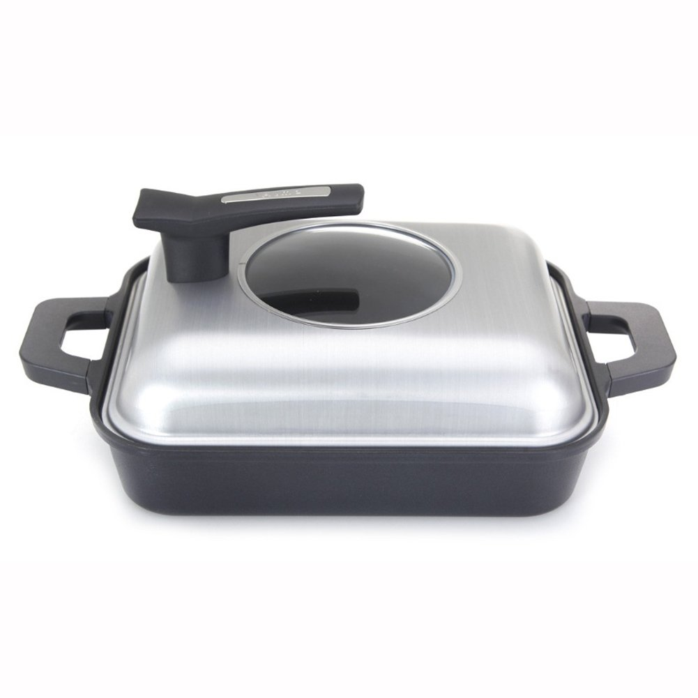 ALMA-OEM Induction Fresco Steam Grill Pan with Aluminum Mold