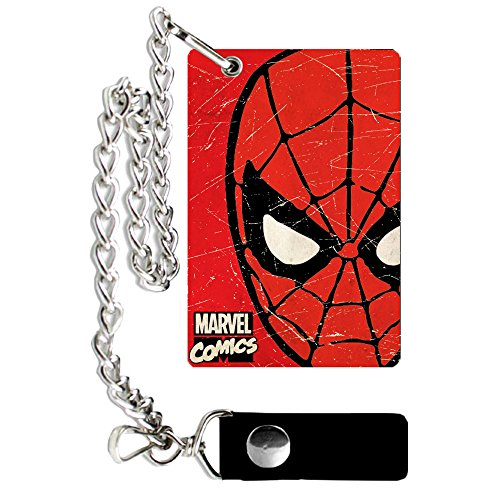 (Silver Buffalo MV9301CW Marvel Spiderman Weathered Chain Wallet)