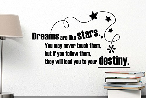 #2 Wall Decal Dreams are like stars you may never touch them but if you follow them they will lead you to your destiny Directioner Fan infinite love music heart wall decal. cute Wall Vinyl Decal inspired motivational Quote Art Saying lettering Sticker ste by Ideogram Designs