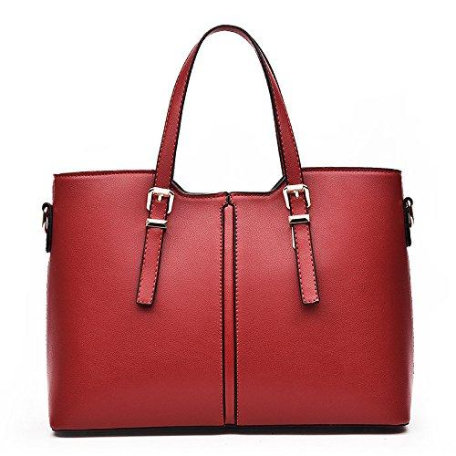 Bolso De Hombro De Las Mujeres Bolso Messenger Fashion Costura Simple De Gran Capacidad Red