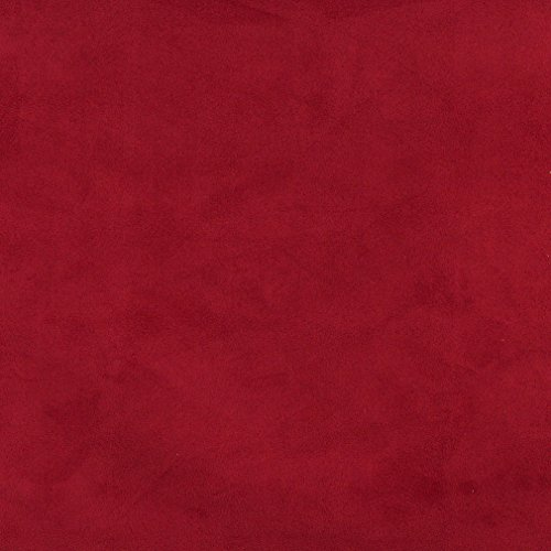 C057 Dark Red Solid Microsuede Microfiber Suede Ultra Durable Upholstery Grade Fabric By The Yard (Ultra Suede Fabric Upholstery compare prices)