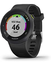 Garmin Forerunner 45 GPS Running Watch with Garmin Coach Training Plan Support - Black, Large