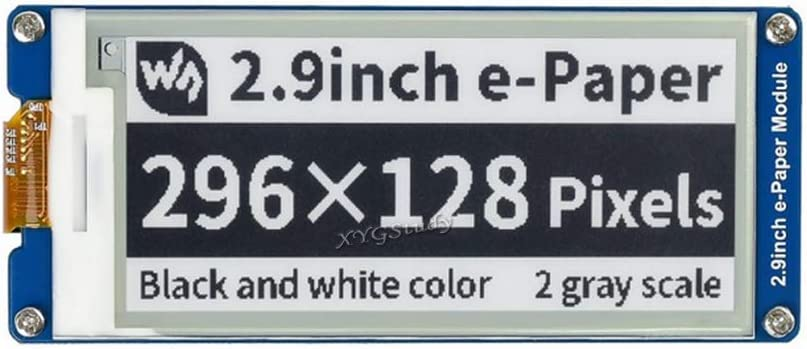 2.9 inch E-Ink Display Module e-Paper Resolution 296x128 SPI Interface for Raspberry Pi 3 2 Nucleo @XYGStudy