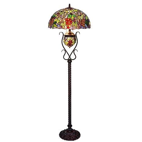 Tiffany Style lámparas de pie vidrio teñido oval uva ...