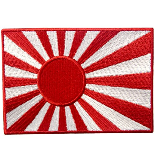 (Japan Navy Flag Embroidered Rising Sun Emblem Japanese Kamikaze Iron On Sew On Patch )